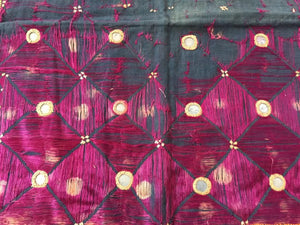 Embroidered Ceremonial Chakla Cloth Hanging Textile