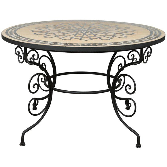 Mosaic Dining Room Table: Moroccan Mosaic Tile Tables Hand Made In Fez, Morocco