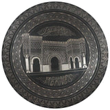 Moroccan Hanging Black Metal Tray from Meknes