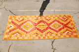 Vintage Moroccan Orange Tribal Rug