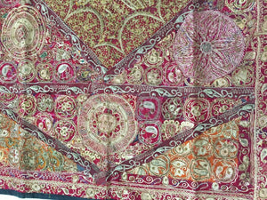 Hand Embroidered Quilted Textile from Rajasthan, India