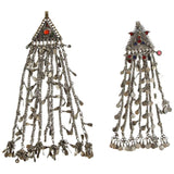 Two Silver Nomadic Kuchi Headgear