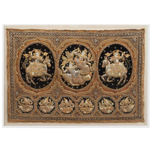 Burmese Kalaga Tapestry Framed in Acrylic Box