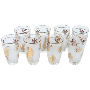 Set of Eight Vintage Cocktail Glasses by Libbey in Original Box