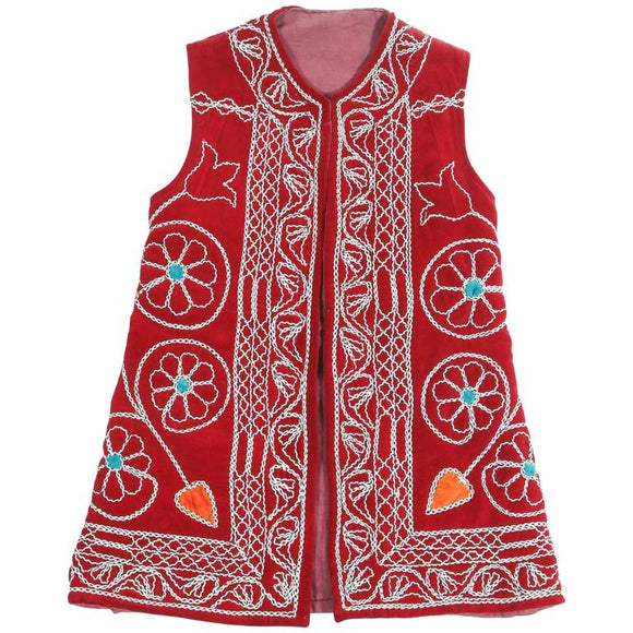 Turkish Red Ceremonial Folk Traditional Vest