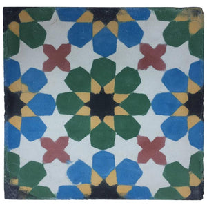 Moroccan Handmade Cement Tile with Traditional Fez Design