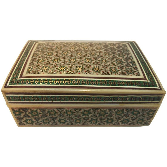 Anglo Indian Micro Mosaic Bone Inlaid Decorative Box