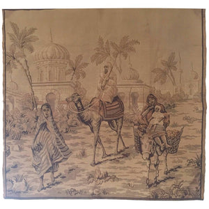 Tapestry with an 19th Century Orientalist Scene and Moorish Architecture