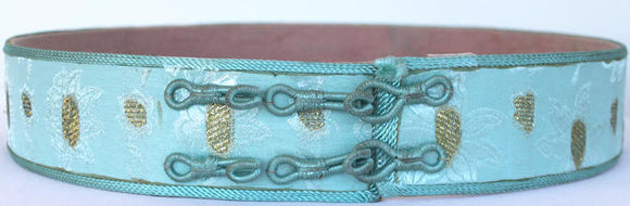 Moroccan Caftan Belt, Blue
