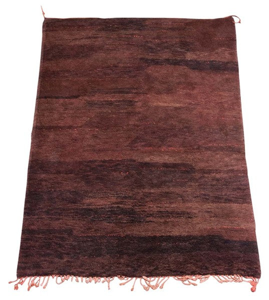 Moroccan Brown Beni Ouarain Tribal Rug