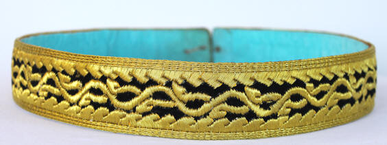 Moroccan Caftan Belt Black and Gold