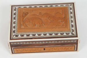 Anglo-Indian Vizagapatam Jewelry Inlaid Box