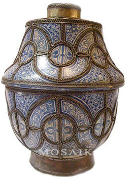 Large Moroccan Antique Urn from Fez
