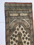 Persian Paisley Woodblock Printed Textile Wall Hanging