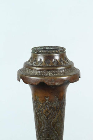 Indo-Persian Decorative Copper Urn