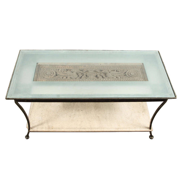 Asian Architectural Relief Made into a Coffee Table