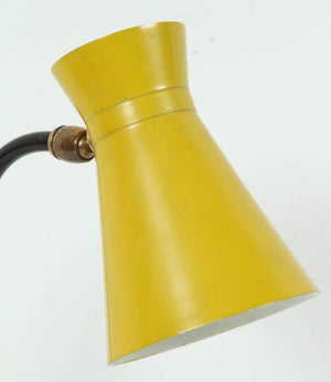"Jacques Biny ""Cocotte"" Yellow Table Lamp for Luminalite"