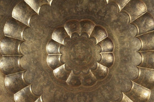 Monumental Anglo-Indian Brass Hanging Tray Platter