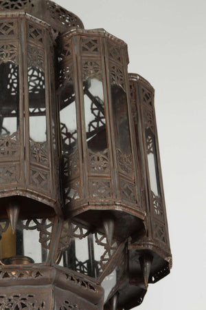 Moroccan Moorish Hand-Crafted Lantern Mamounia Light Fixture Clear Glass
