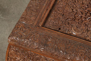 Anglo Indian Hand-Carved Coffee Table
