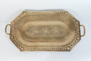 Indo Persian Brass Charger Serving Tray