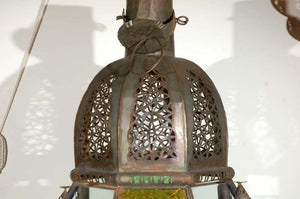Moroccan Vintage Moorish Glass Lantern from Marrakech