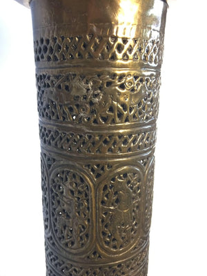 Antique 19th Century Brass Islamic Middle Eastern Persian Floor Lamp