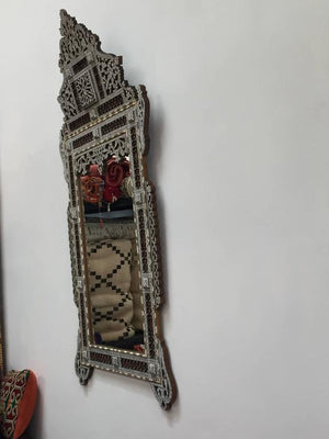 19th Century Syrian Mirror Inlay with Mother-of-Pearl