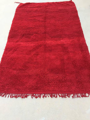 Vintage Red Tribal Moroccan Berber Rug