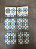 Moroccan Encaustic Cement Tile Border with Fez Design