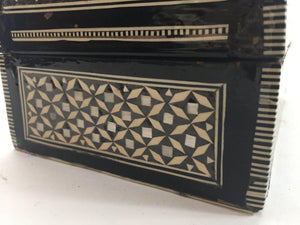 Handcrafted Middle Eastern Syrian Mother-of-Pearl Jewelry Box
