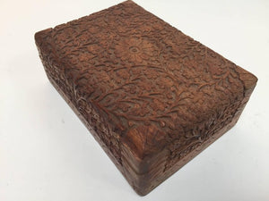 Anglo Raj Rosewood Hand-Carved Decorative Box
