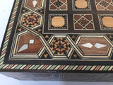 Syrian Inlaid Mosaic Backgammon and Chess Game Box