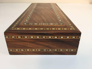 Large Decorative Syrian Box Inlay with Mother-of-Pearl