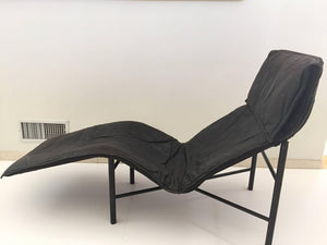 Tord Bjorklund Chaise Longue in Black Leather, 1970
