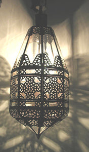 Moroccan Clear Glass Hanging Pendant