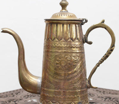 Antique Moroccan Brass Coffee Pot