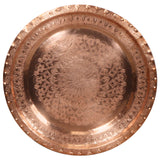 Large Antique Moroccan Copper Tray