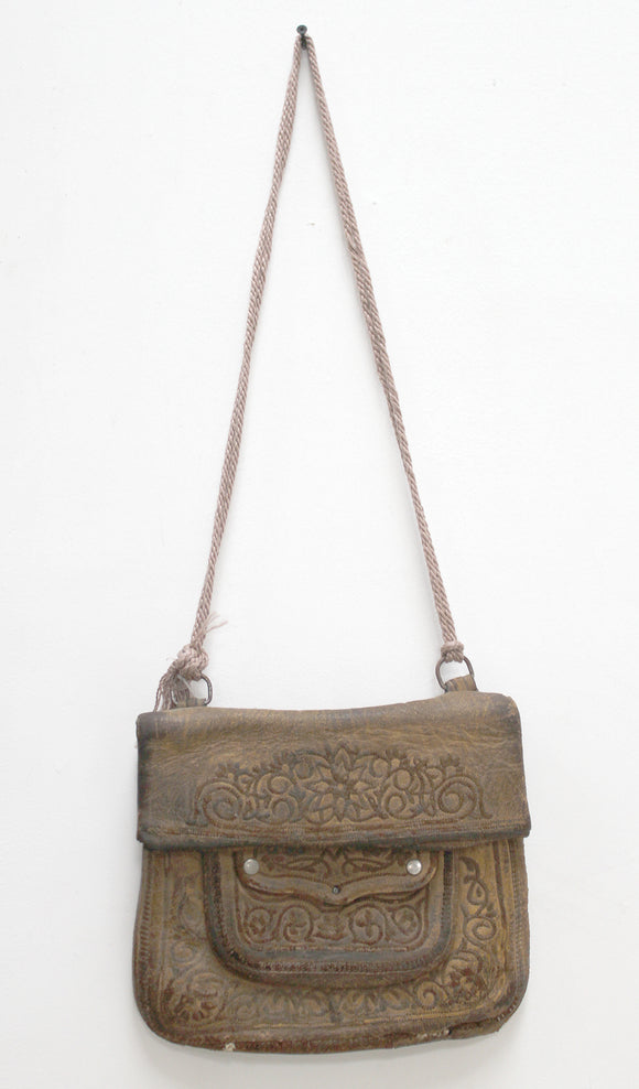 Vintage Moroccan Messenger Leather Bag