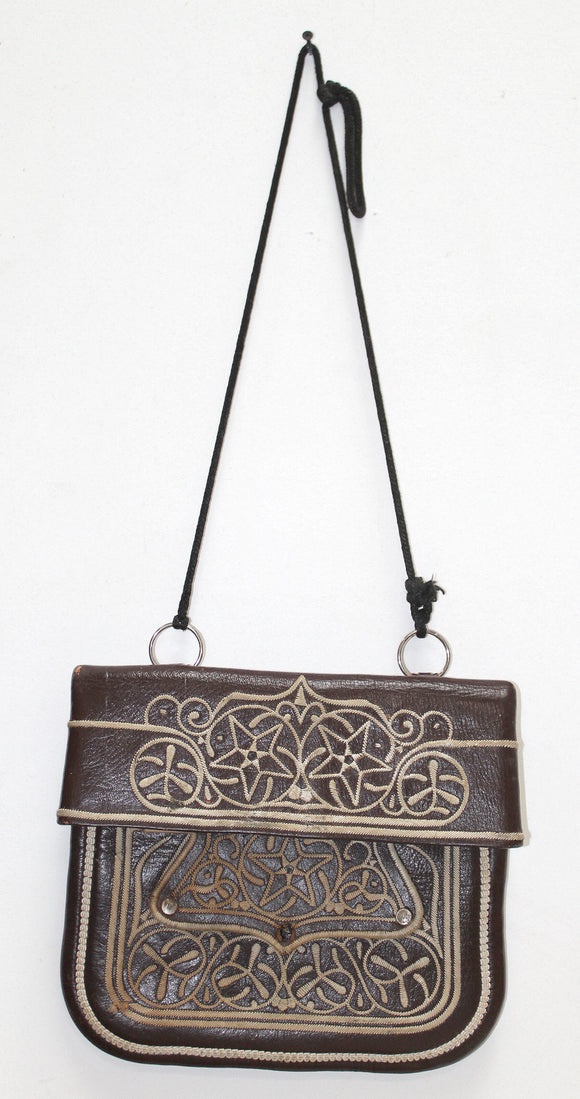 Vintage Marrakech Messenger Leather Bag