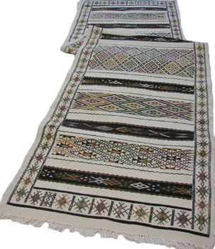 Moroccan Long White Runner Rug