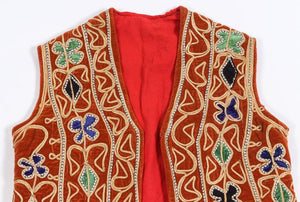 Bright Hippie Chic Turkish Red Vest
