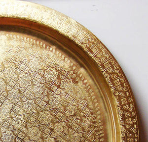 Polished gold brass tray