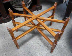 folding wooden stand for Moroccan tray