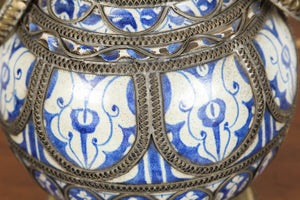 Moroccan Ceramic Antique Vase from Fez