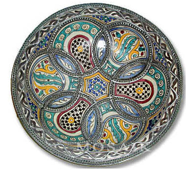 Antique Moroccan Ceramic Dish
