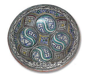 Moroccan Ceramic Plate from Fez