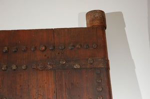 Massive Antique Moroccan Ryad Studded Door