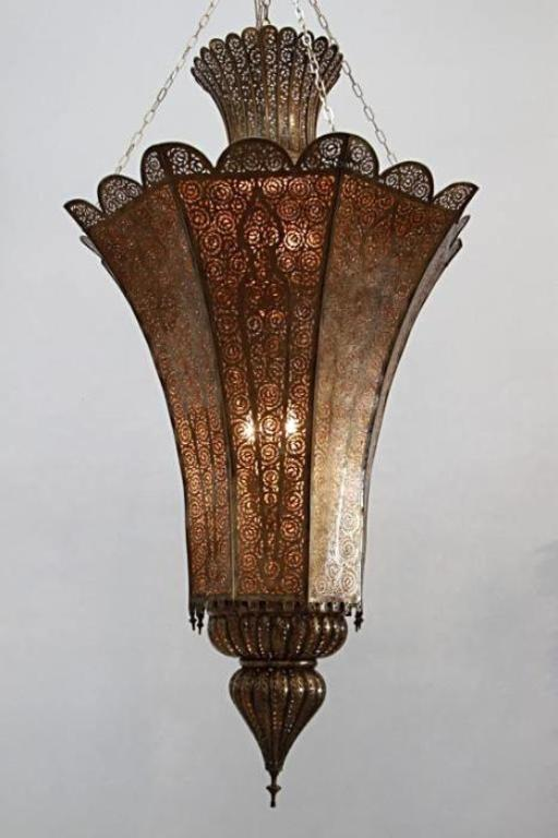 High End Moroccan Brass Chandelier