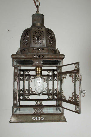 Moroccan Moorish Hanging Glass Lantern